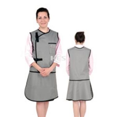 X射线无袖双面分体套裙重叠卡扣型C302