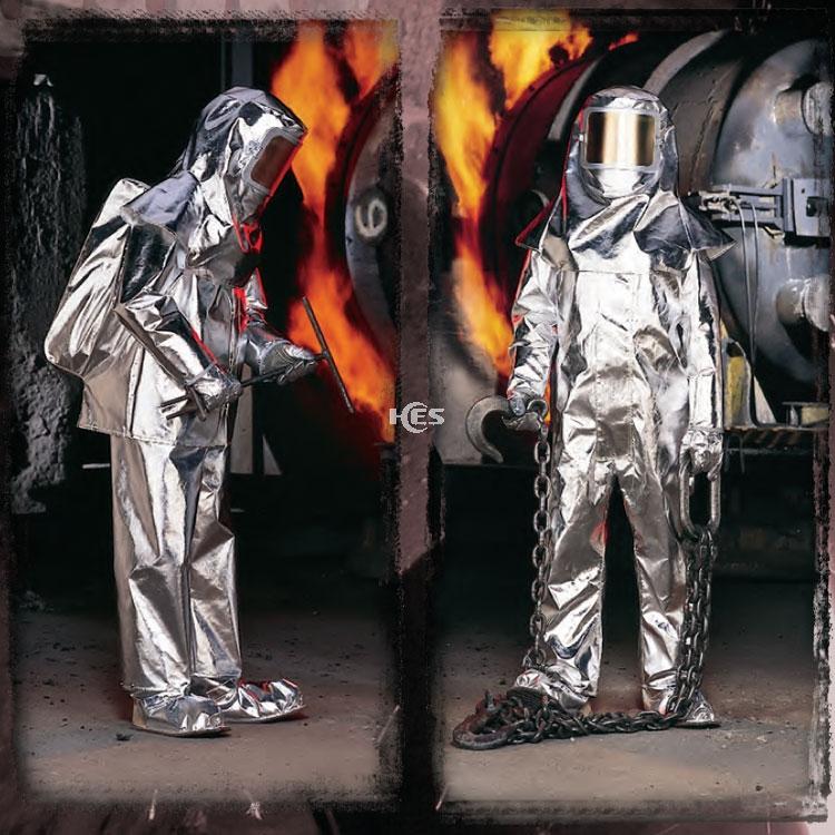 400 Kevlar镀铝分体隔热服无呼吸器背囊