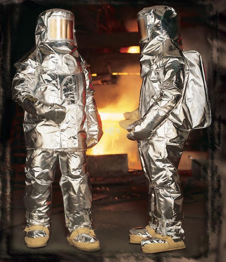 705临近式连体高温隔热服无呼吸器背囊
