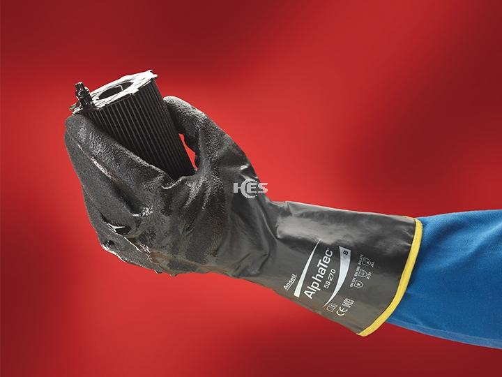 AlphaTEC 丁腈橡胶防化手套58-270